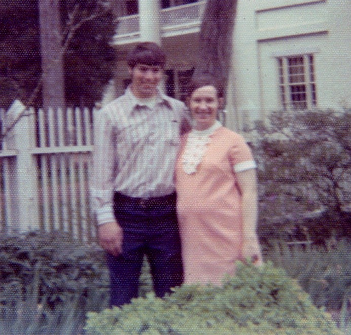 Bill and me, pregnant 1973