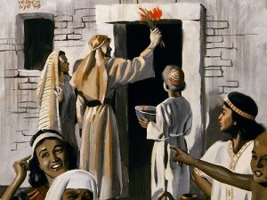 Passover blood on the door