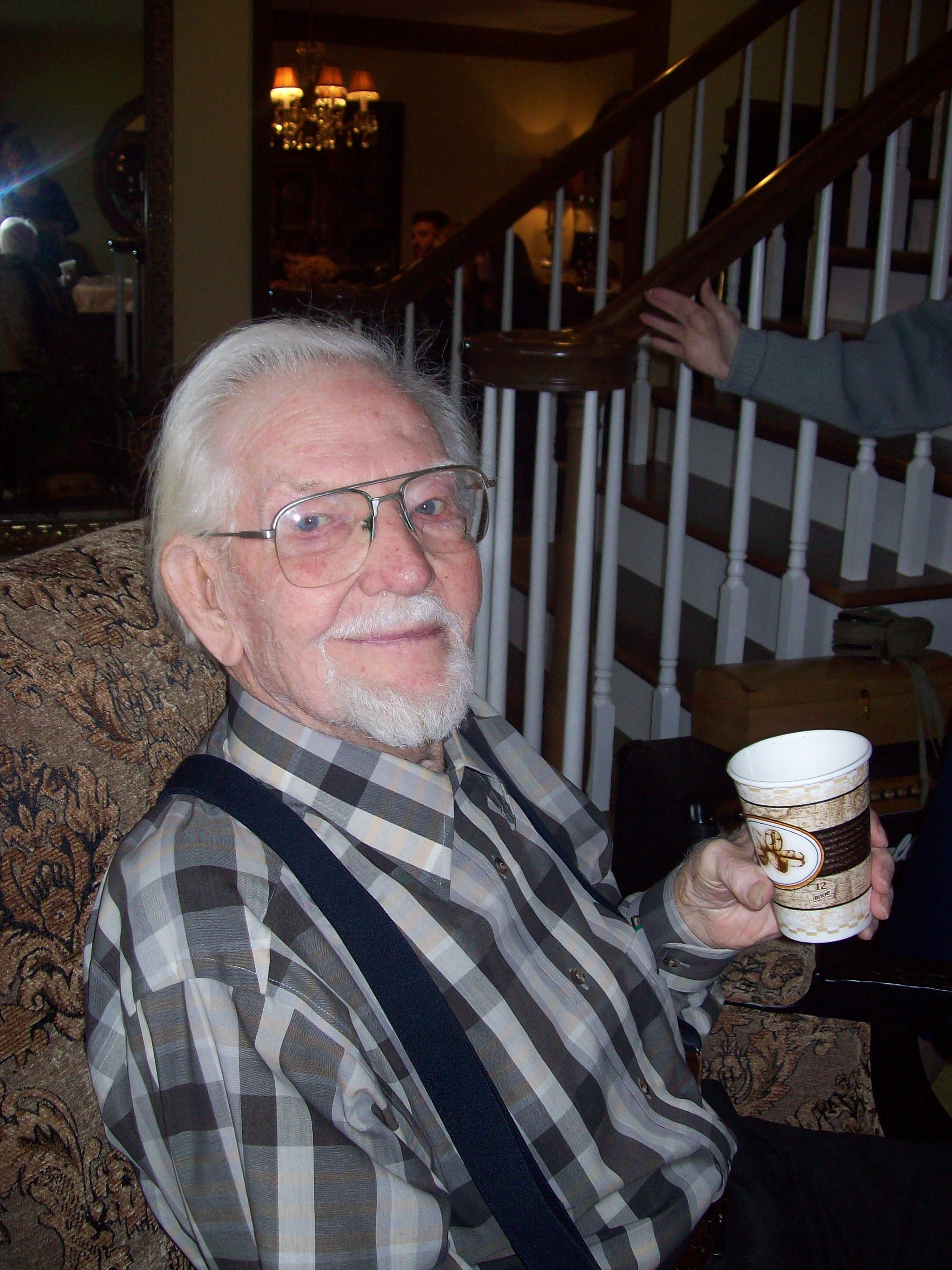 dad and coffee
